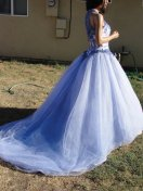 Purple wedding gown, by myliltreasureboxx on etsy.com