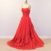 Red tulle gown, by daisyandstella on etsy.com