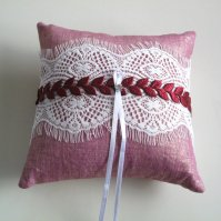 Ring pillow, by MammaMiaBridal on etsy.com