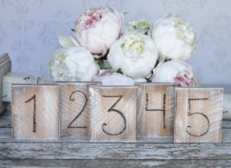 Rustic table numbers, by braggingbags on etsy.com