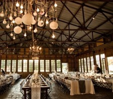 Rustic wedding reception inspiration