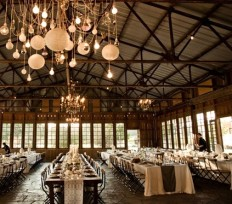 Rustic wedding reception inspiration