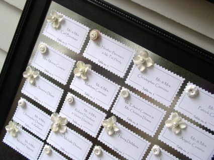 Seating plan set, by EleganceFarmHome on etsy.com