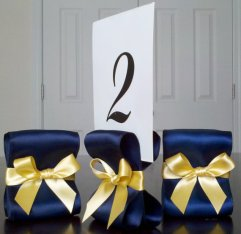 Set of 10 table number holders, by ReservedSeating on etsy.com