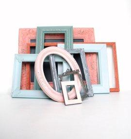 Shabby chic frames, by Lollipopfigurine on etsy.com