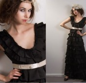 Silk layered gown, by hollystalder on etsy.com