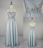 Silver wedding dress, by LvsFashion on etsy.com