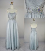 Silver wedding dress, by LvsFashion on etsy.com