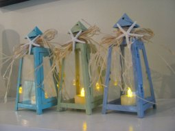 Starfish table lanterns, by BaublesBangles on etsy.com