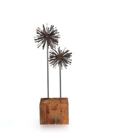 Steel table sculptures, by NayaStudio on etsy.com