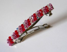 Swarovski crystal hair clip, by STAROSECREATIONS on etsy.com
