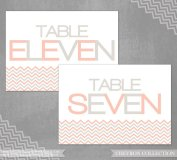 Table numbers, by iheartstationeryshop on etsy.com