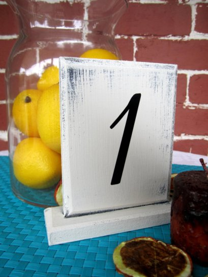 Table numbers, by JolieMaeCollections on etsy.com