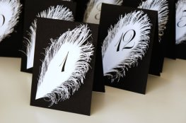 Table numbers, by liradesigne on etsy.com