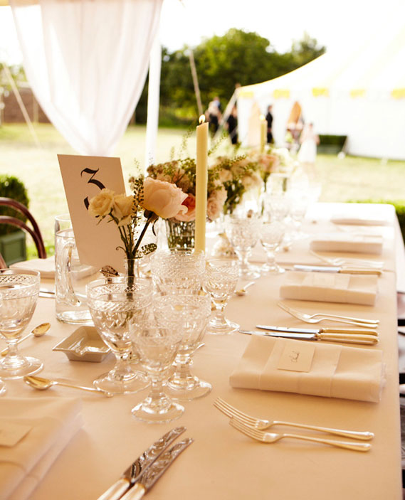 Kinds Of Table Setting : table-setting-for-kate-moss-and-jamie-hinces-reception-different-types ...