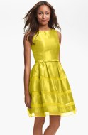 Taylor Dresses Tonal Stripe Fit & Flare Dress, from nordstrom.com