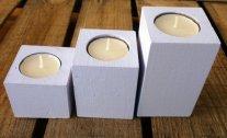 Tealight candle-holders, by MelindaWeddingDesign on etsy.com