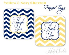 Thank-you tags, by HauteChocolateFavors on etsy.com