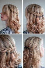 Hair half up (This style is called a waterfall plait/braid)