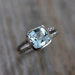 Topaz ring, by onegarnetgirl on etsy.com