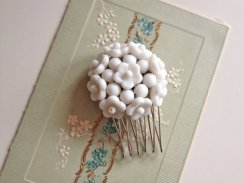 Vintage bridal hair comb - 'something old', by MyFayreFavourite on etsy.com