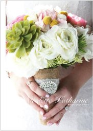 Wedding bouquet, by LilyBellas on etsy.com
