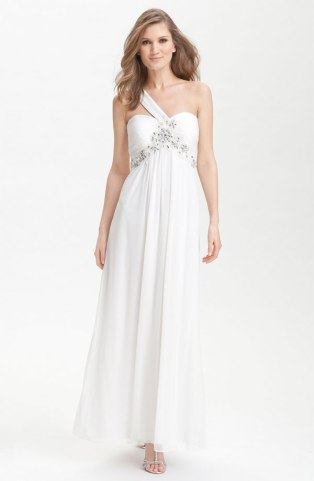 Xscape One Shoulder Embellished Mesh Gown - US$195, from nordstrom.com
