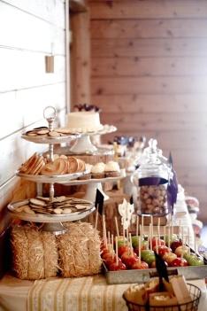 Barn buffet - mini hay bales