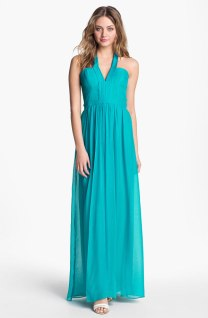 BCBGMAXAZRIA Seamed Silk Halter Gown, from nordstrom.com