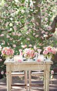 Beautiful way to set up the table for the signing of the wedding certificate
