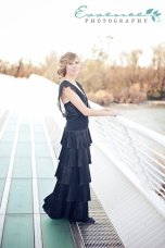 Black 1920s-style wedding dress, by AmandaJoandMe on etsy.com
