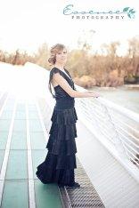 Black 1920s-style wedding dress, by AmandaJoandMe on etsy.com