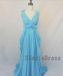 Blue wedding dress, by Simpledress on etsy.com