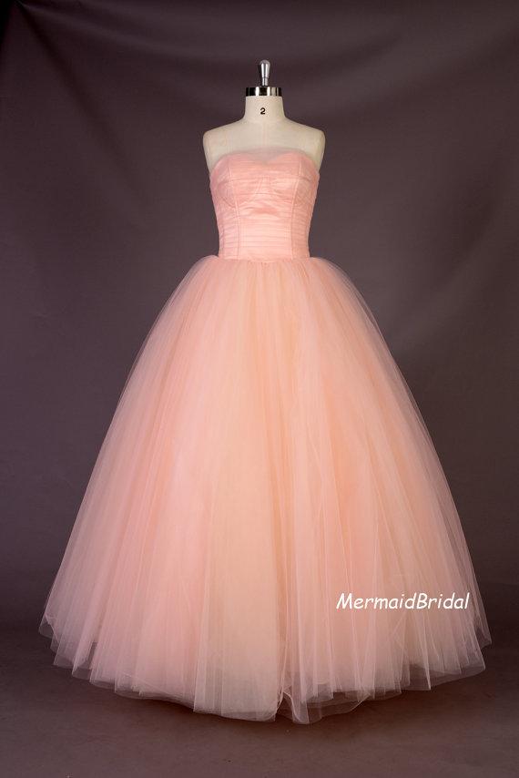 Blush Pink Wedding Dresses For  : Blush pink wedding dress by mermaidbridal on etsy the merry