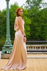 Blush-pink wedding dress, by rschone on etsy.com