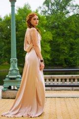 Blush-pink wedding dress, by rschone on etsy.com