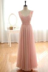 Blush-pink wedding dress, by wonderxue on etsy.com