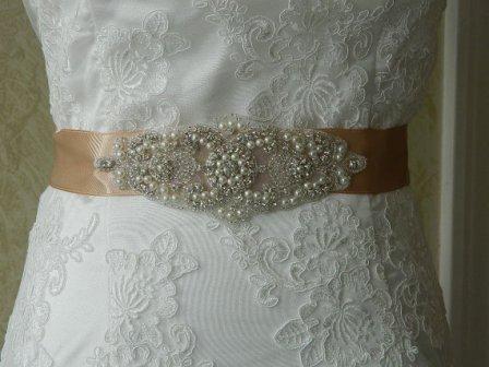 Bridal sash, by BridalSashByTania on etsy.com