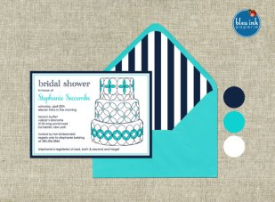 Bridal shower invitation, by bleuinkpaperie on etsy.com