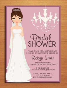 Bridal shower invitation, by Sapphiredigitalworks on etsy.com