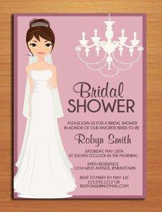 Bridal shower invitation, by Sapphiredigitalworks on etsy.com