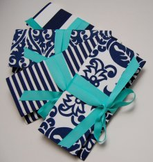 Bridesmaid clutch purses, by ao3designs on etsy.com