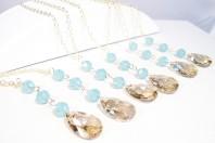 Bridesmaid necklaces, by bonitaj on etsy.com