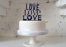 Cake topper, by MissSarahCake on etsy.com
