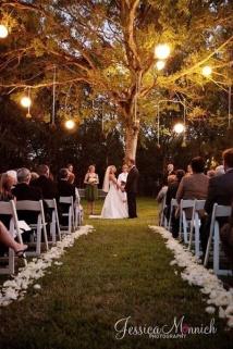 Ceremony at dusk