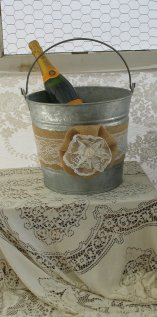 Champagne bucket, by TheShabbyChicWedding on etsy.com