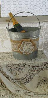Champagne bucket, by TheShabbyChicWedding on etsy.com