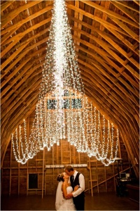 Christmas lights are great for receptions