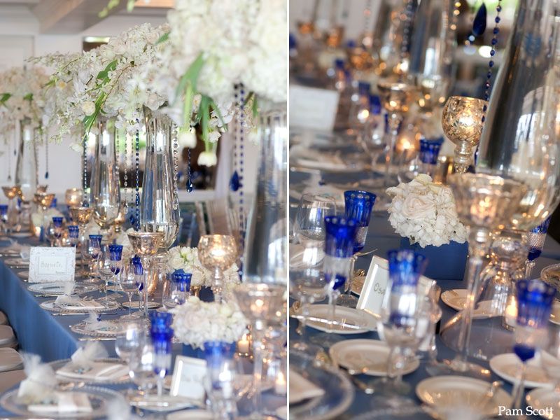 Cobalt Blue And Silver Wedding Inspiration