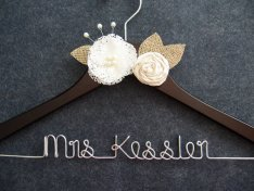 Customised wedding hanger, by LynnClaire on etsy.com